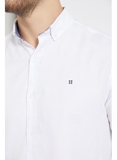 Avva Erkek Oxford Düğmeli Yaka Slim Fit Gömlek A02B2287 Beyaz